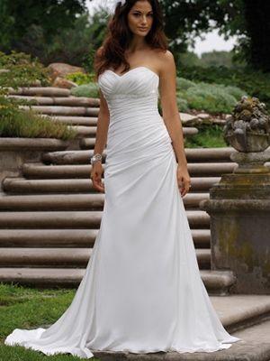 vestido tirante escote corazón cintura baja vestidos de novias