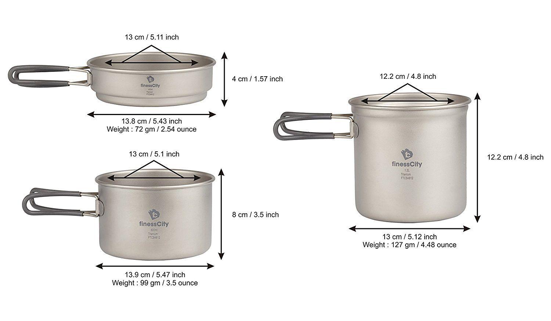 e3c38f3187b Titanium Camping Cookware Set (1.2L