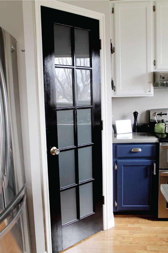 Diy Etched Glass Windows Glass Pantry Door Frosted