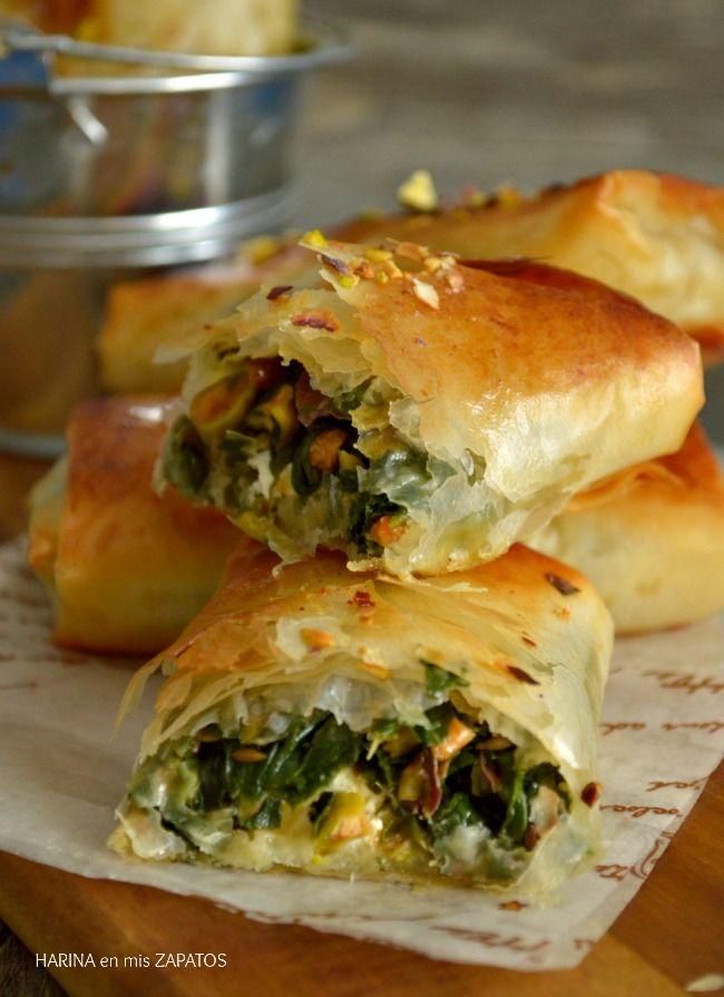 Rollitos De Espinacas Y Queso Feta Chicken Salad Recipes Food Recipes