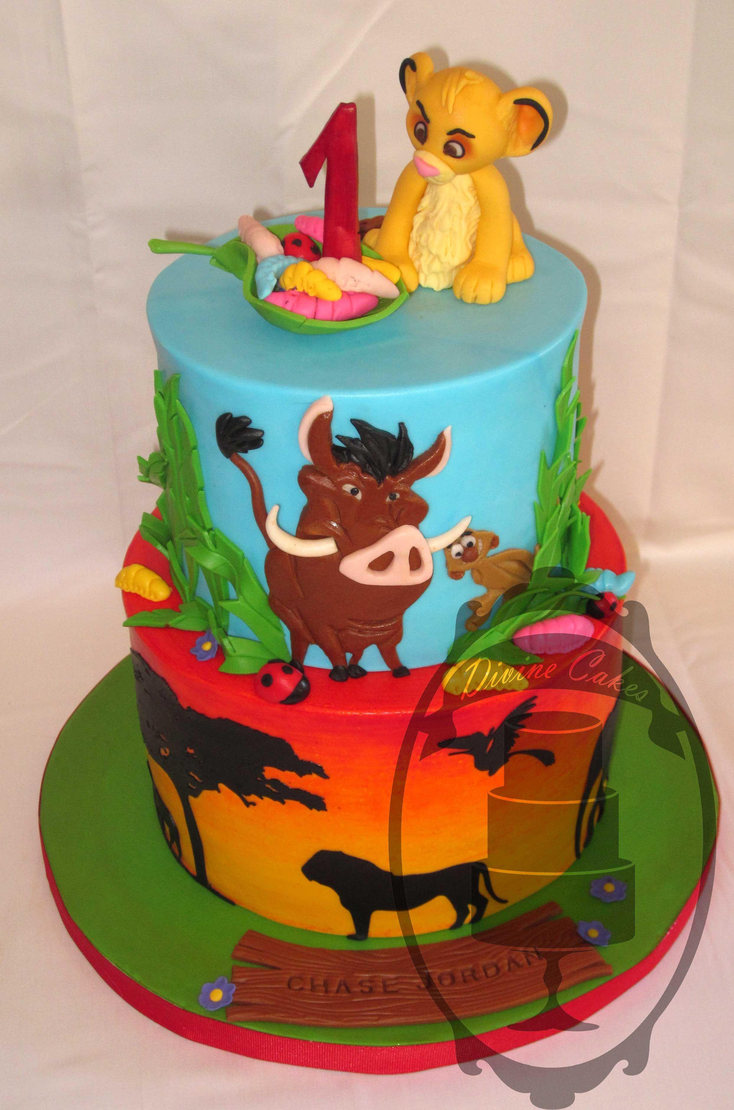 Simba First Birthday Lion King Cakes Lion Guard Birthday Cake