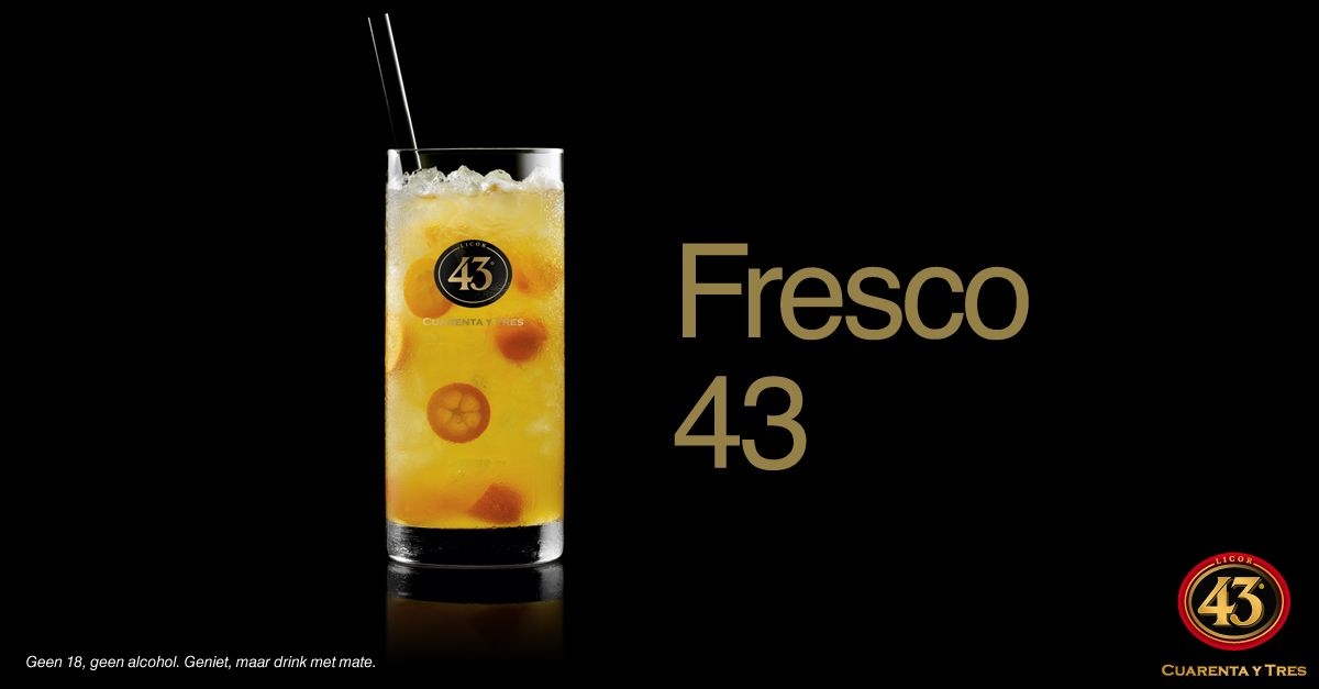 Licor 43, cocktail, Fresco 43  www.licor43.nl/puur-recepten/cocktails/fresco-43
