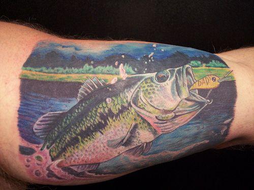 Maori Largemouth Bass Tattoo: Pin Bass Fishing Tattoos Fish Tattoo Tuesday On Pinterest