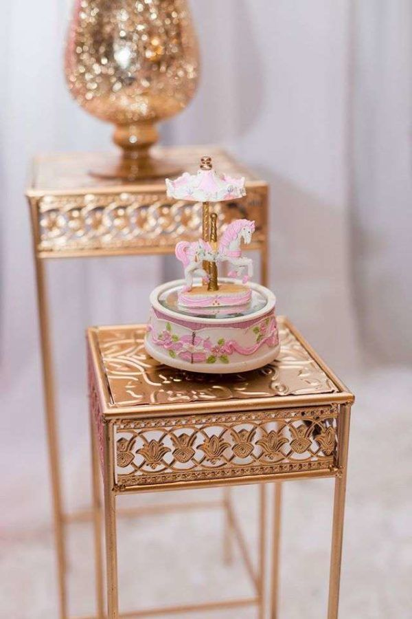 Carousel In Pink Baby Shower Music Box
