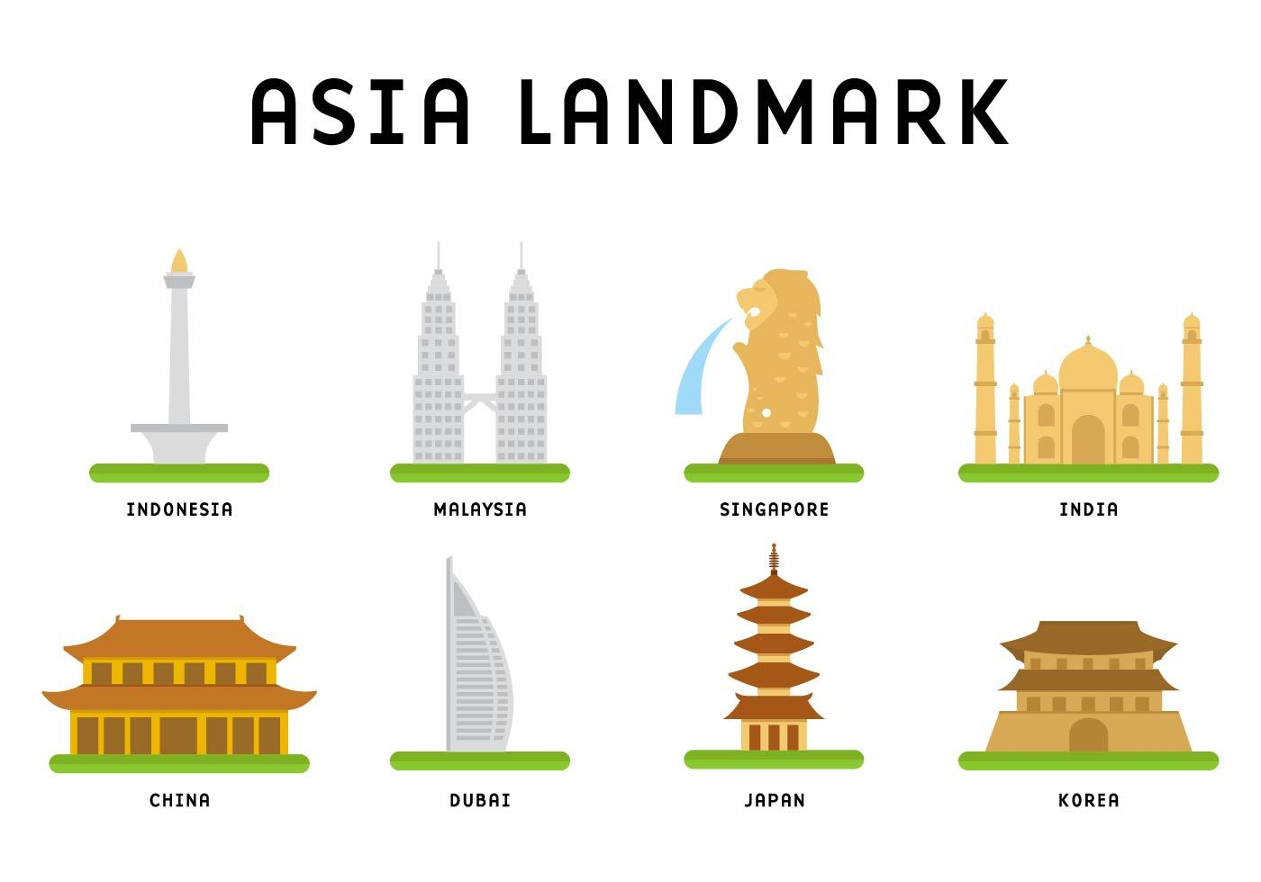 Asia Landmark Vector Choose From Thousands Of Free