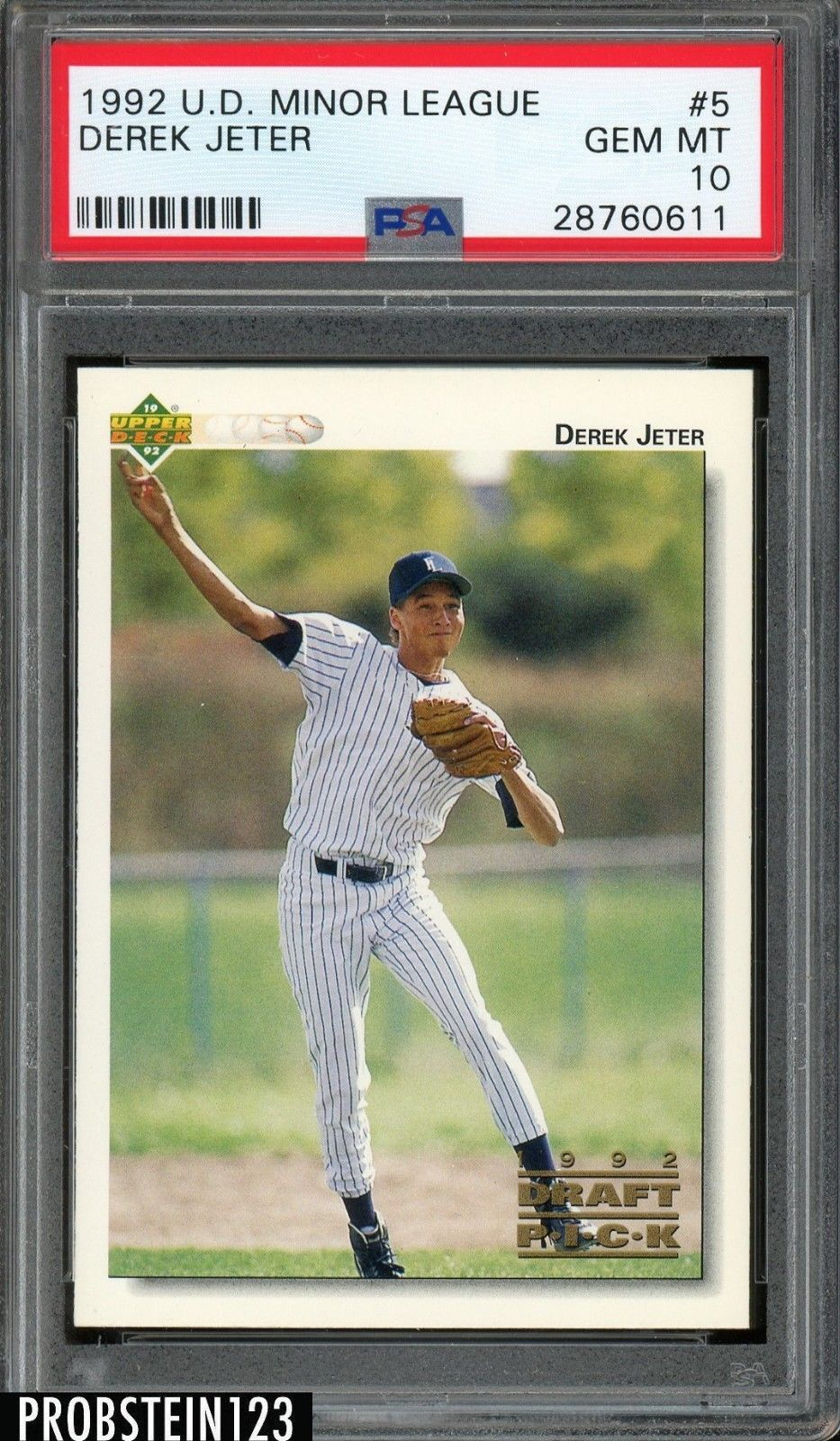 1992 upper deck minor league 5 derek jeter yankees rc