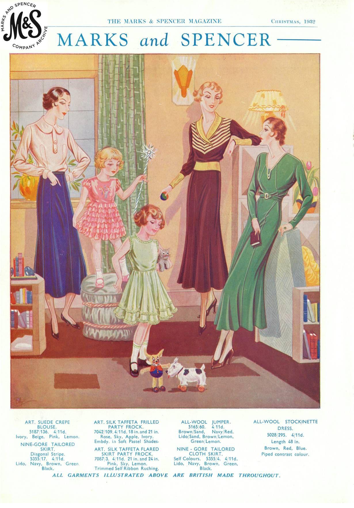 Marks Spencer Magazine Christmas 1932