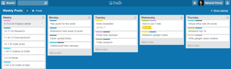 weekly planner   u0026quot you can also use trello as a weekly