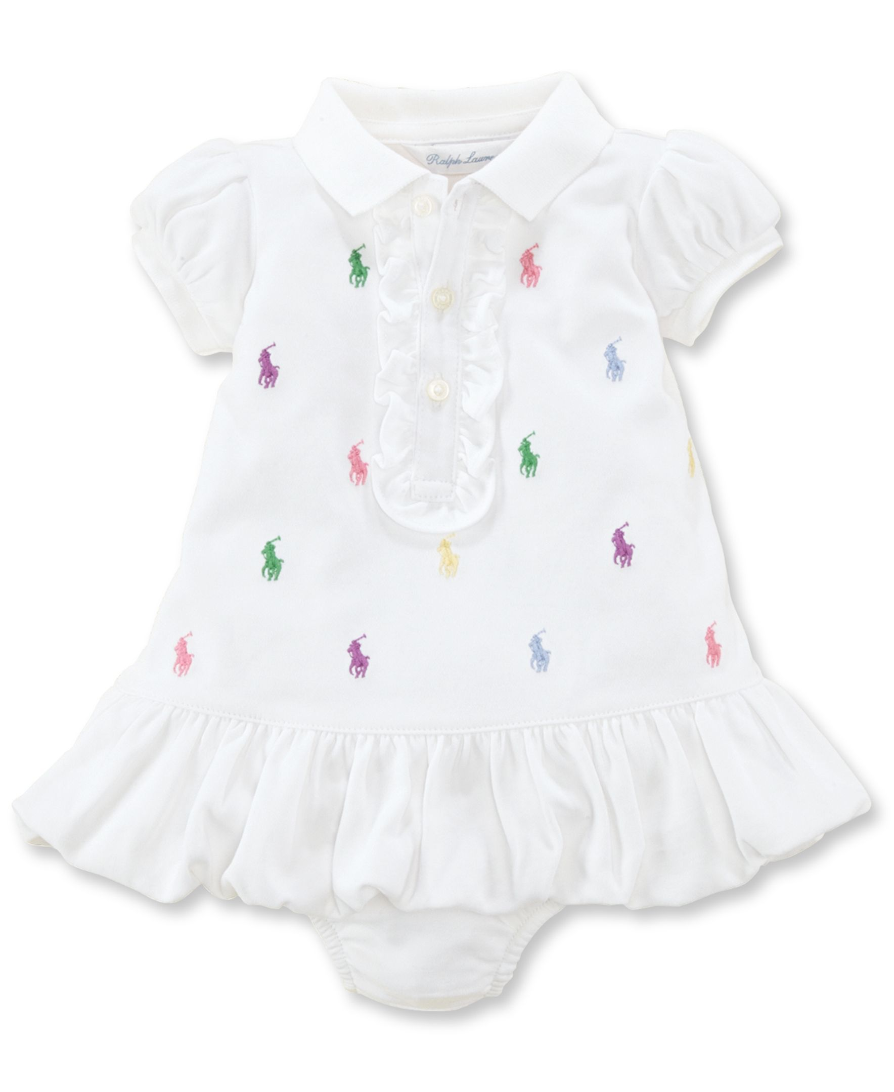 ed57ae86 Ralph Lauren Baby Girls Embroidered Polo Dress | Products | Dresses ...