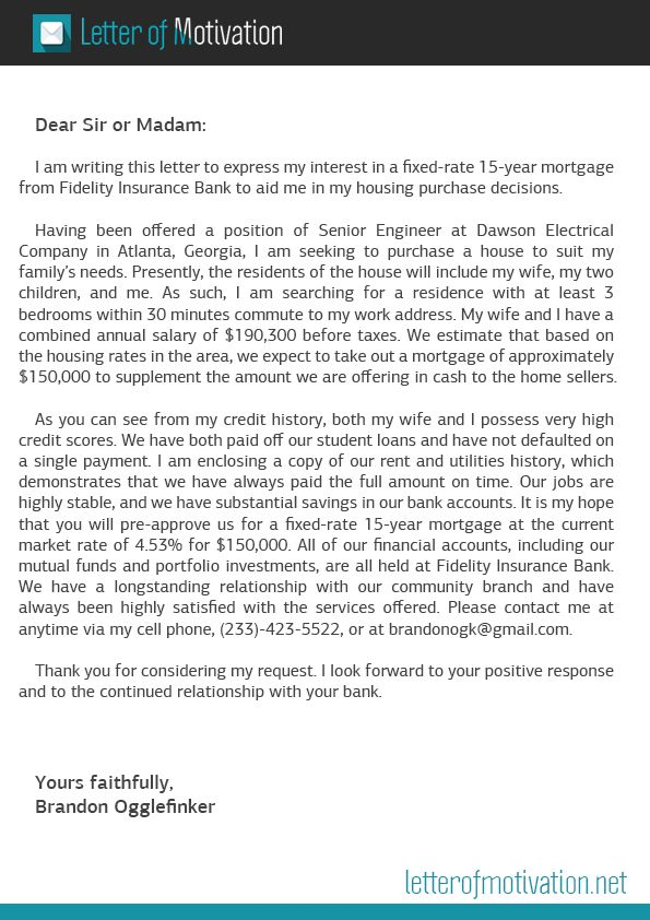 Motivation Letter Writing For Mortgage Can Be Really Simple To Do, But Most  Of The