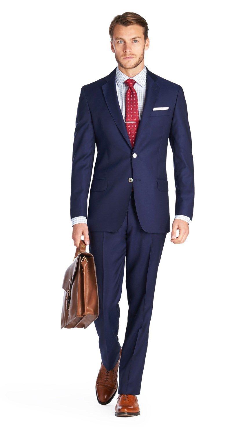 261a8da5080 Men s Royal Blue Slim Fit Italian Suit - 1913 Collection - Super ...