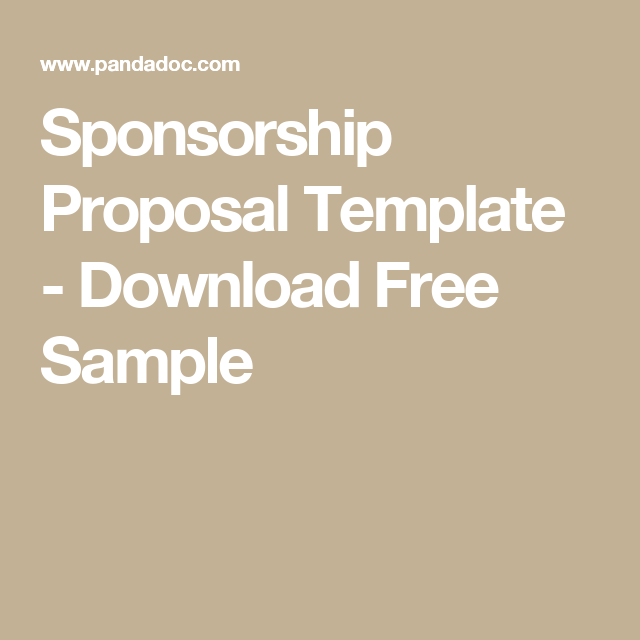 Sponsorship Proposal Template  Download Free Sample  Event