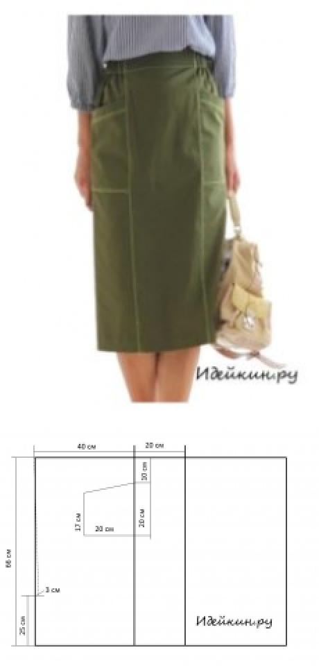 Como coser rápidamente la falda recta sin patrón | PROJECTS ...