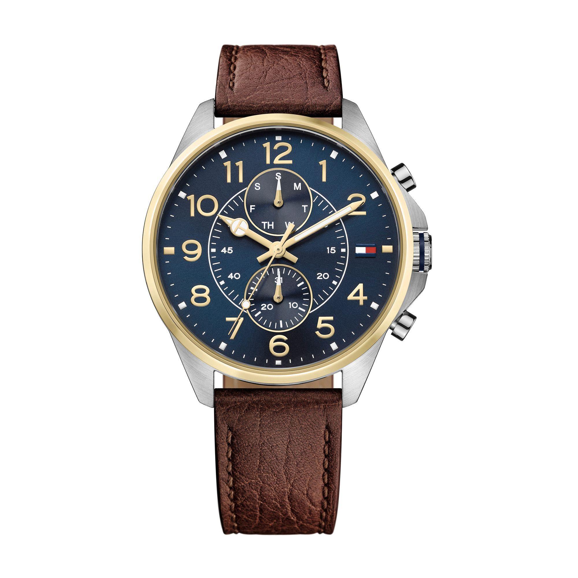 bfe0c97a58e Relógio Masculino Tommy Hilfiger com pulseira de Couro Marrom - 1791137