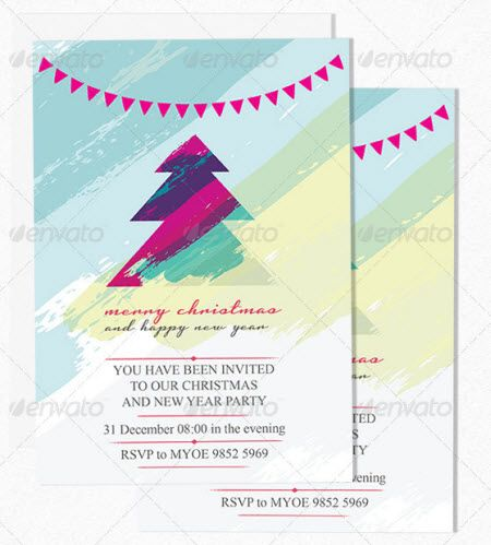 Christmas Party Invitation Templates And Flyers Collection