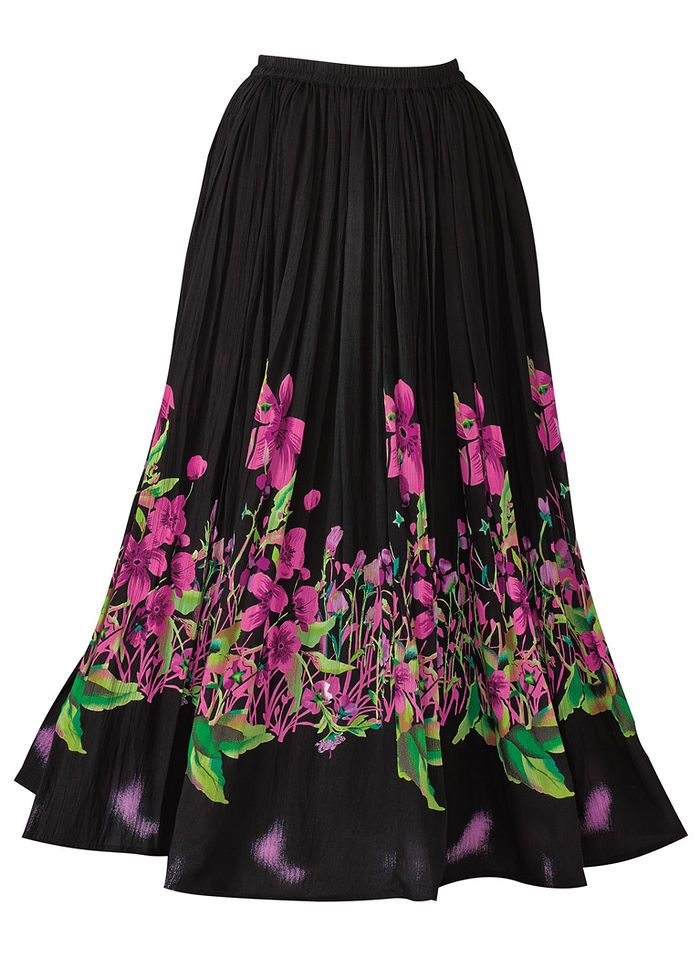 e985c1dded Pull-on skirt with full elastic waist. Woven crinkle rayon. Machine wash.  Imported. Approximate lengths: Petite-32