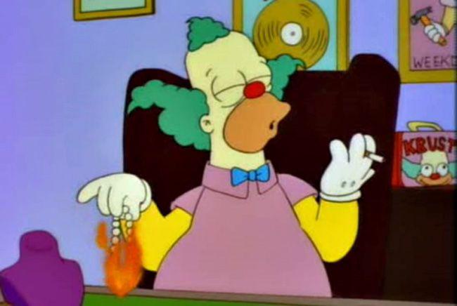 Krusty the clown les fumeurs krusty the clown the simpsons lisa simpson - Simpson le clown ...