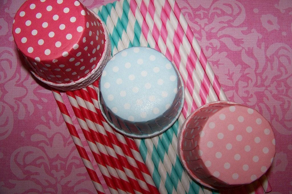 30 straws and 30 treat cups - $14.45