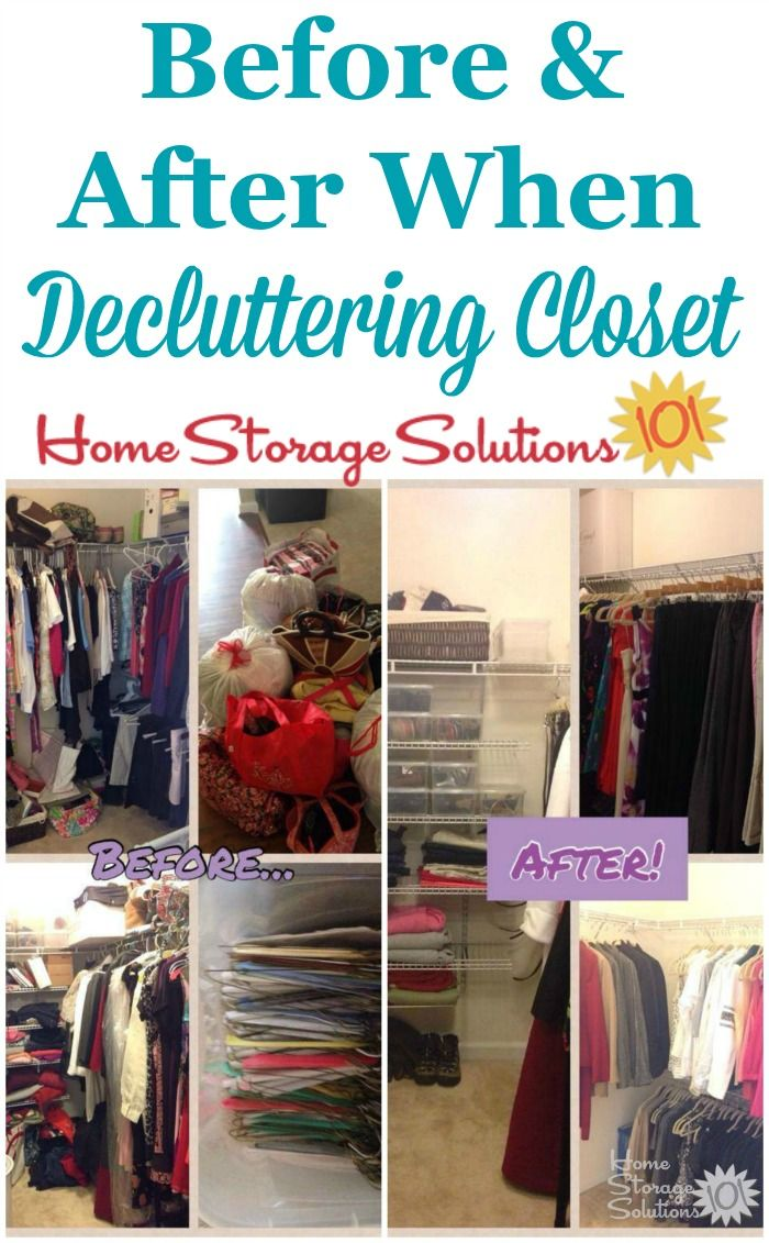 How To Declutter Closet Shelves Drawers Declutter Closet Declutter Storage Solutions Closet