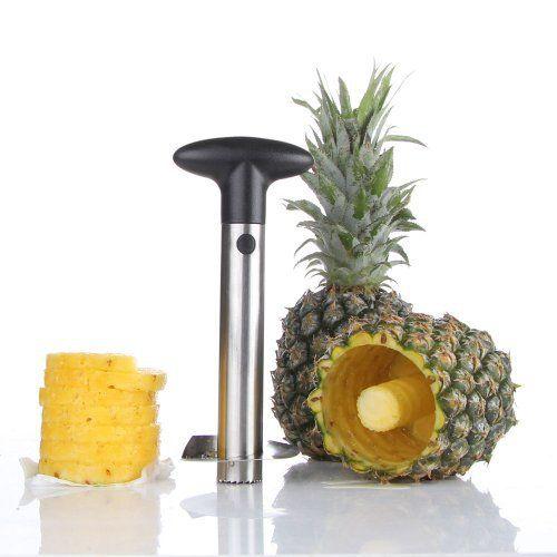 Stainless Steel Fruit Pineapple Corer Slicer Cutter Peeler Kitchen Tool Gadget