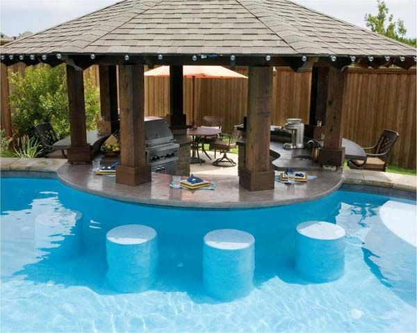 26 Summer Pool Bar Ideas To Impress Your Guests Woohome Backyard Pool Swimming Pool Designs Small Backyard Design