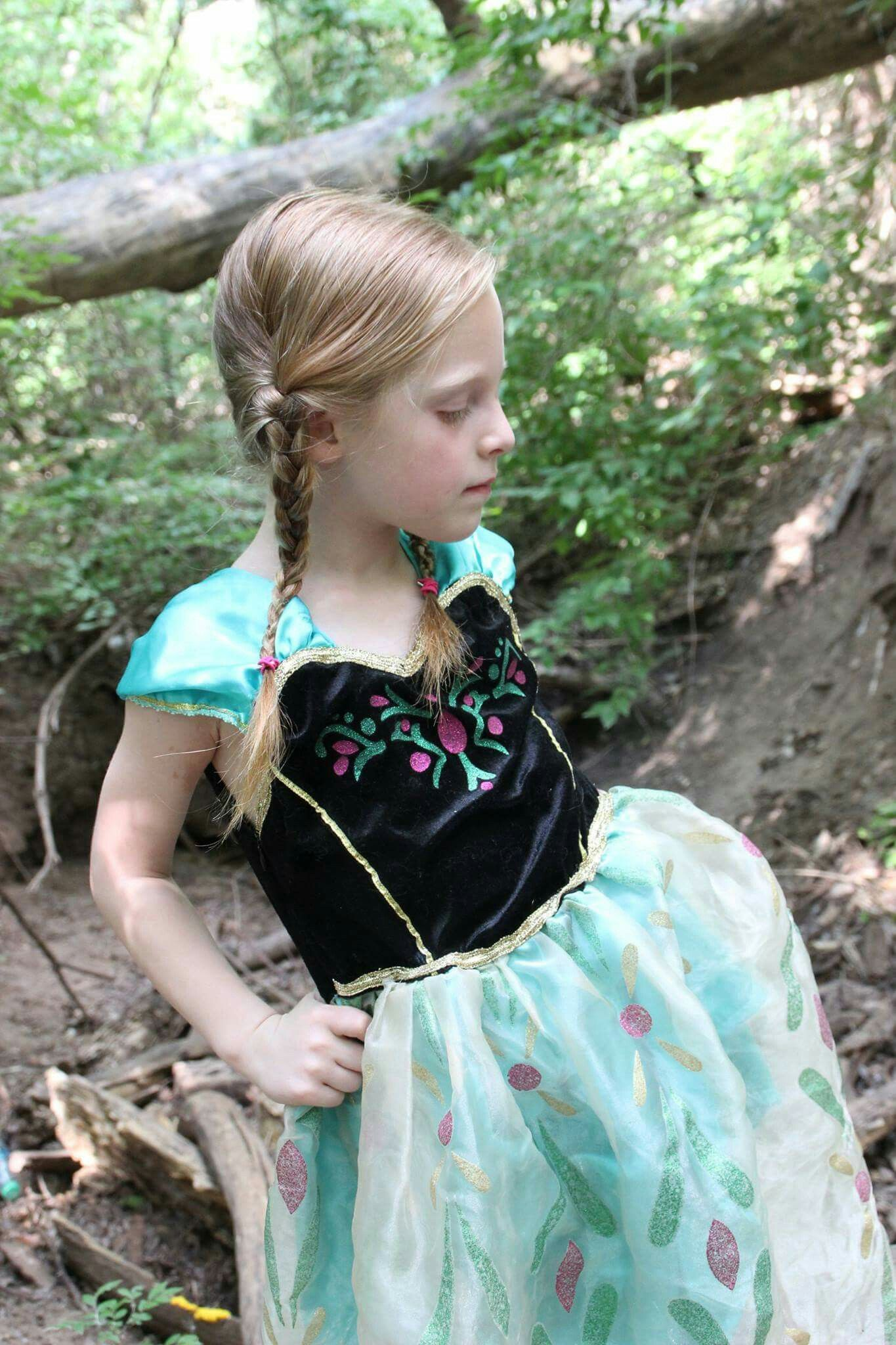 Disney Princess photo shoot, 5 years old. Anna from Frozen