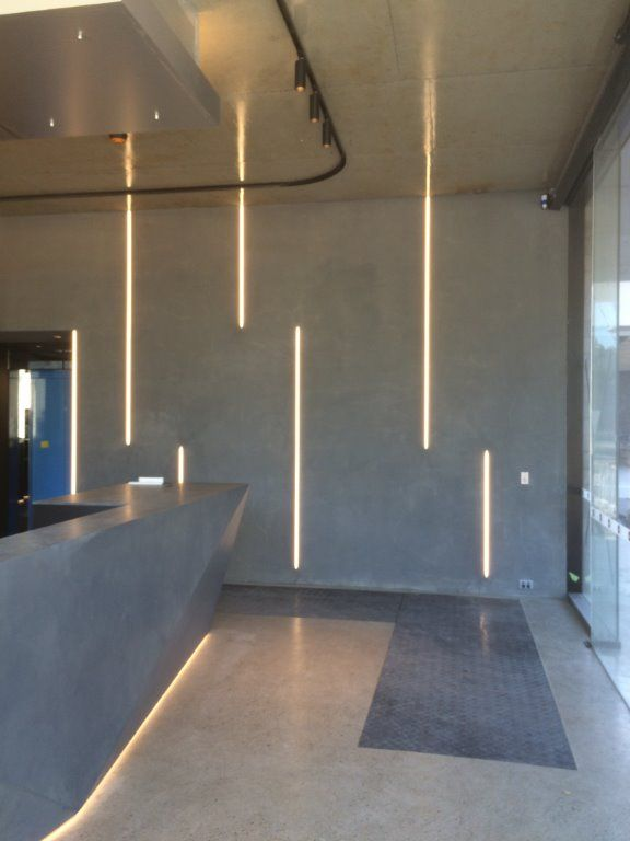 Commercial Reception Area Black Led Track Head Lights