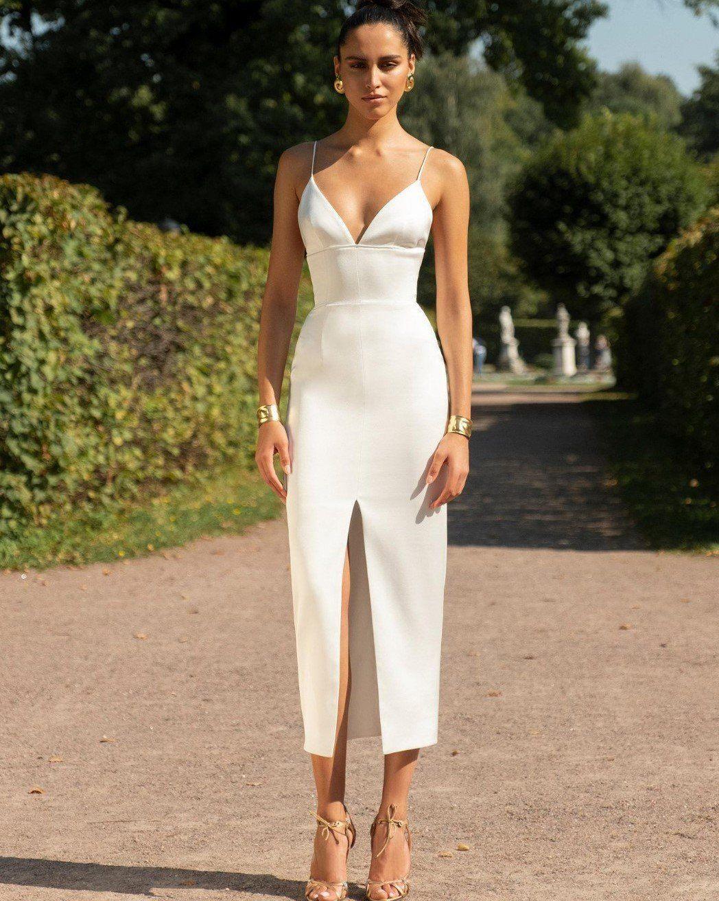 White Sweetheart Bandage Midi Dress Bandage Midi Dress Midi Dress Bodycon Satin Dresses [ 1312 x 1048 Pixel ]
