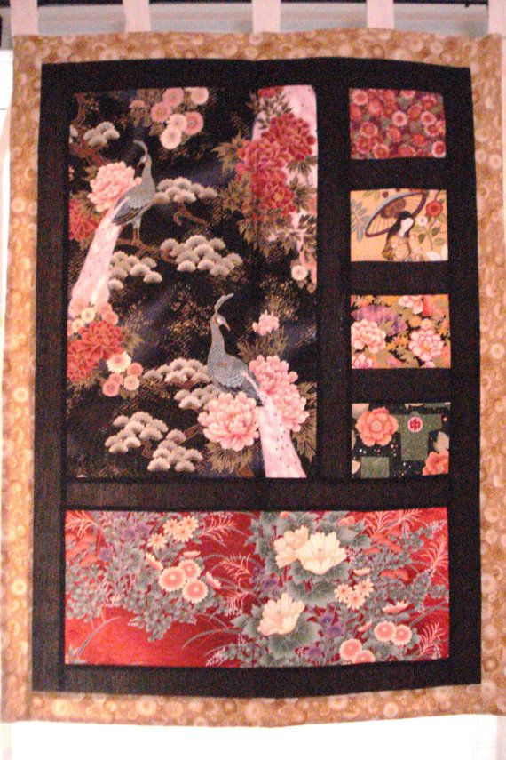 Japanese Fabric Wall Hanging Decor Asian Quilts