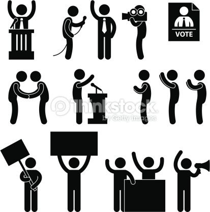 Pictograms Election Vector Art Politician Reporter Election Vote