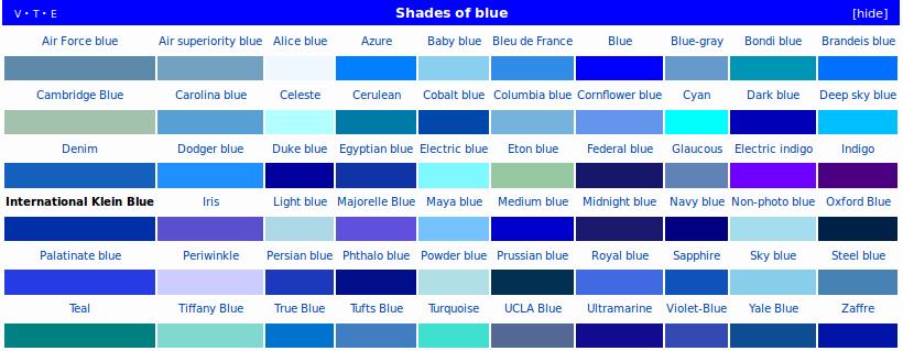 tonos de azul buscar con google colores texturas azul