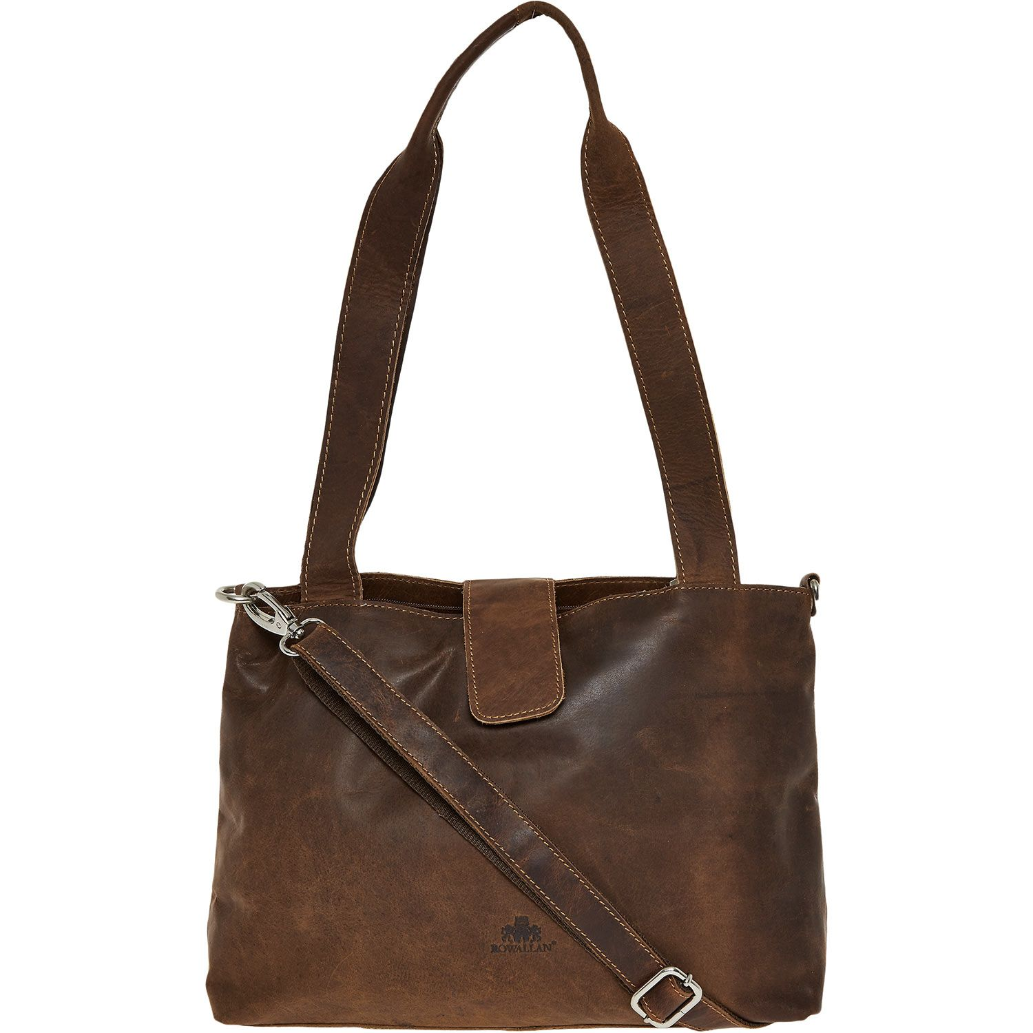 Rowallan Tan Leather Tote Bag Tk Ma