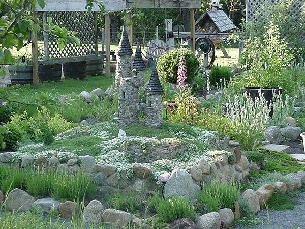 fairy garden castle. Three Turret Castle Is The Centerpiece Of One Small Area A Cape Cod Summer Garden. Fairy Garden