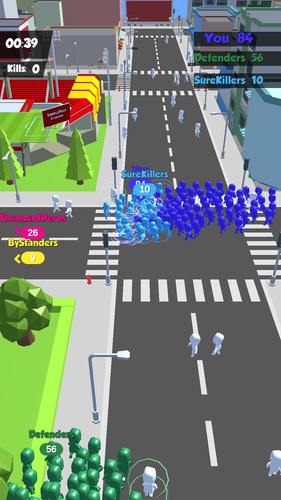 Crowd in City Unity 3D Game Template for Android & IOS