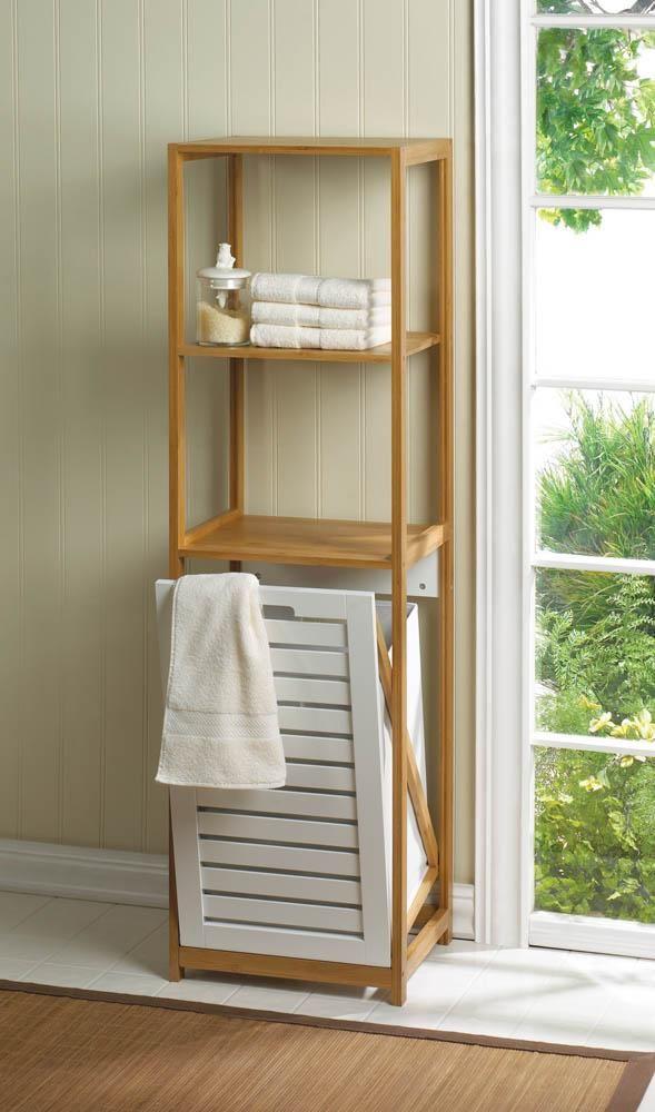 Bamboo Hamper Shelf Hamper Storage Laundry Hamper Furniture