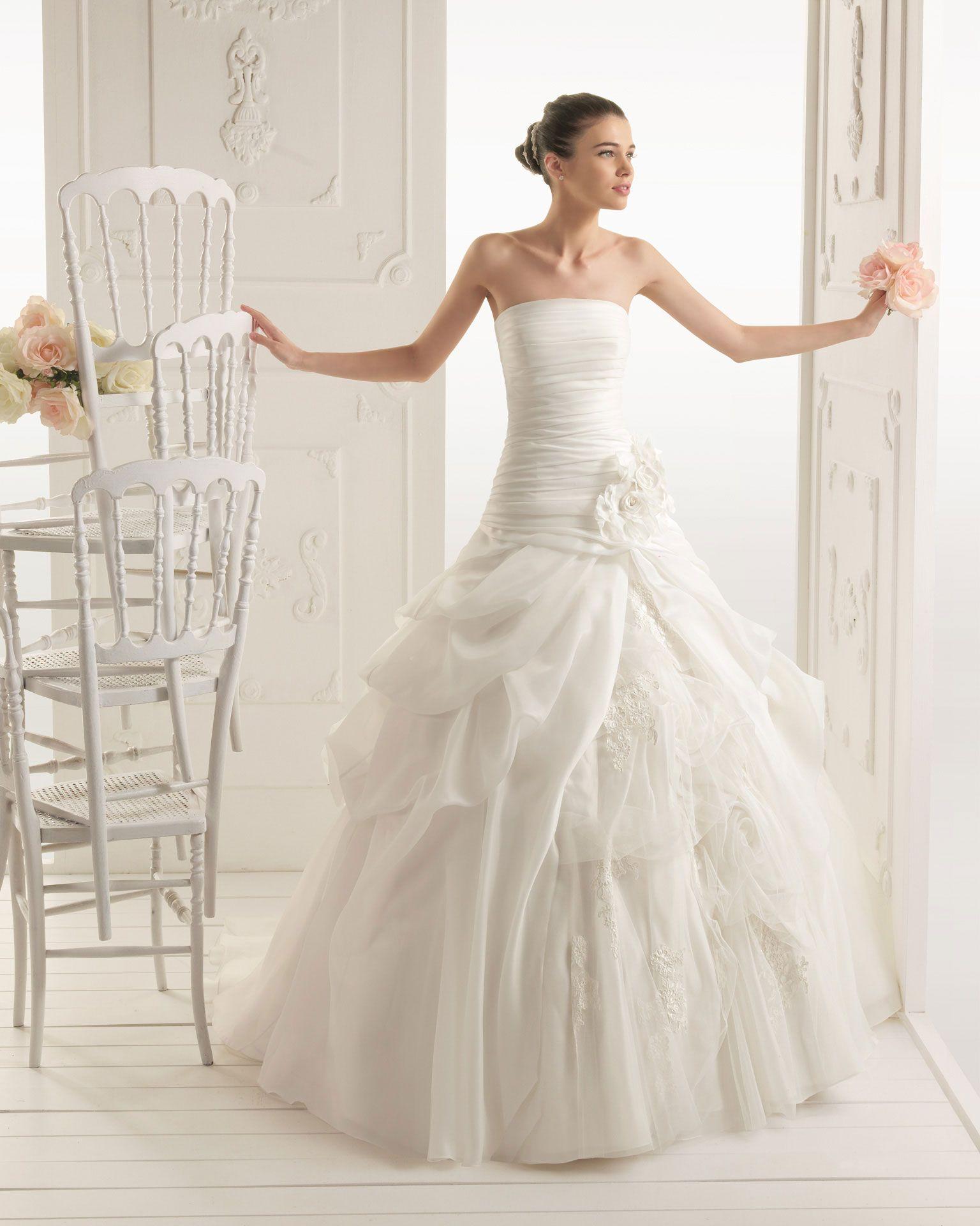 Ecru wedding dress  RUMBA  Organza dress in ecru  All About Weddings  Pinterest