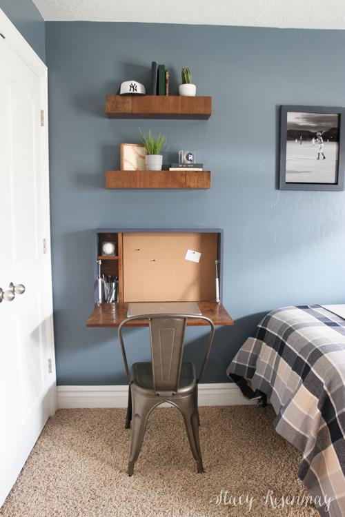 DIY Fold Down Desk Stacy Risenmay in 2020 Fold down