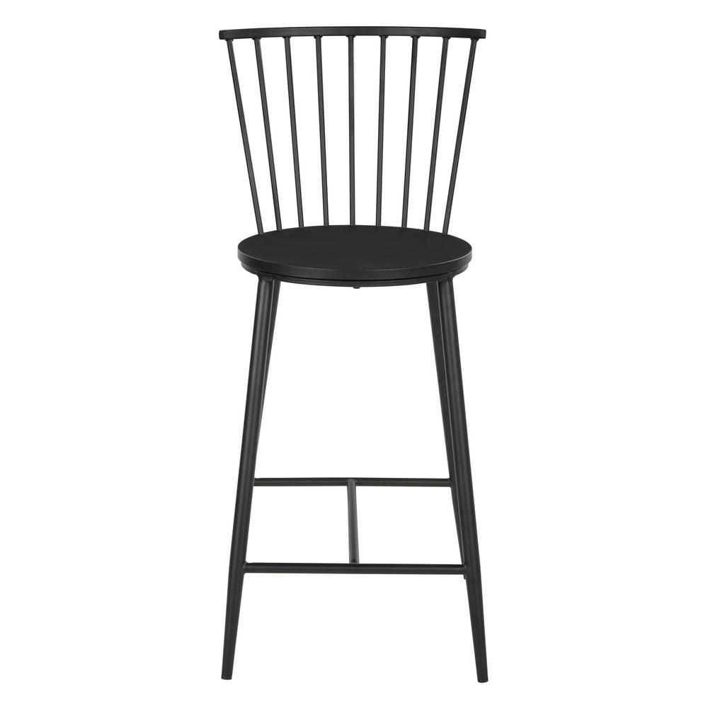 Osp Home Furnishings 26 In Black Bryce Counter Stool With Metal Frame Bry6526 3 The Home Depot In 2021 Bar Stools Counter Stools Stool