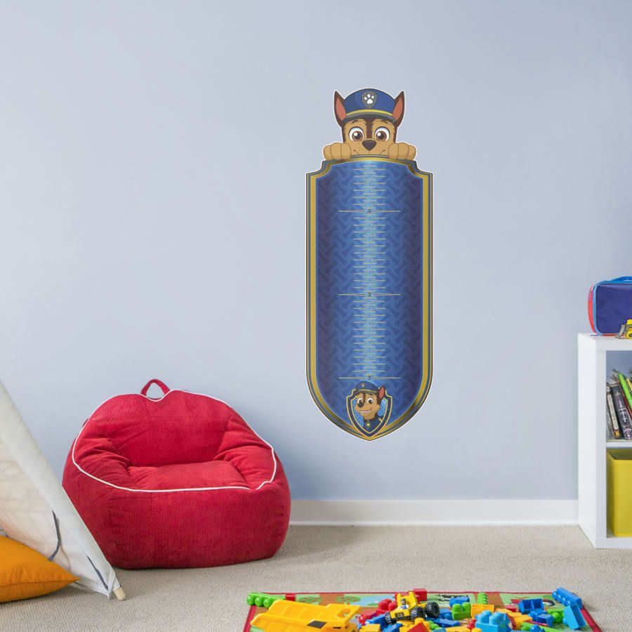 Chase Growth Chart X Large Paw Patrol Wall Decal In 2020 Paw