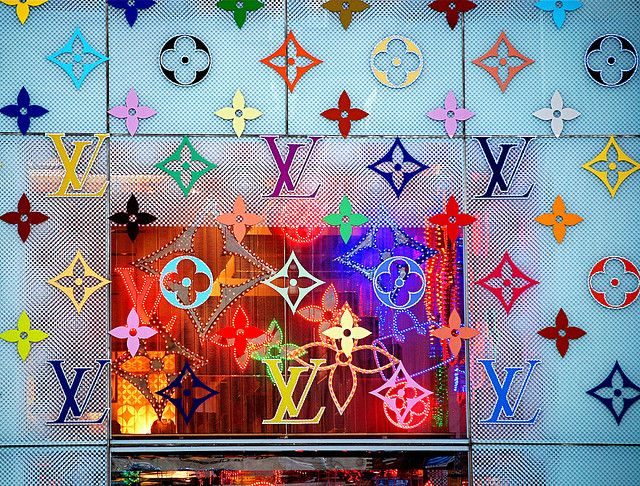 Louis Vuitton Flagship Store New York City Christmas Window Display Takashi Murakami