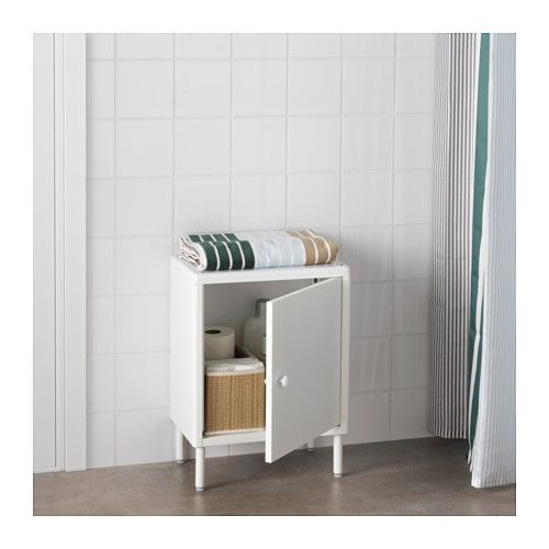 DYNAN Cabinet with door, white | Doors, Small bathroom and Armoires