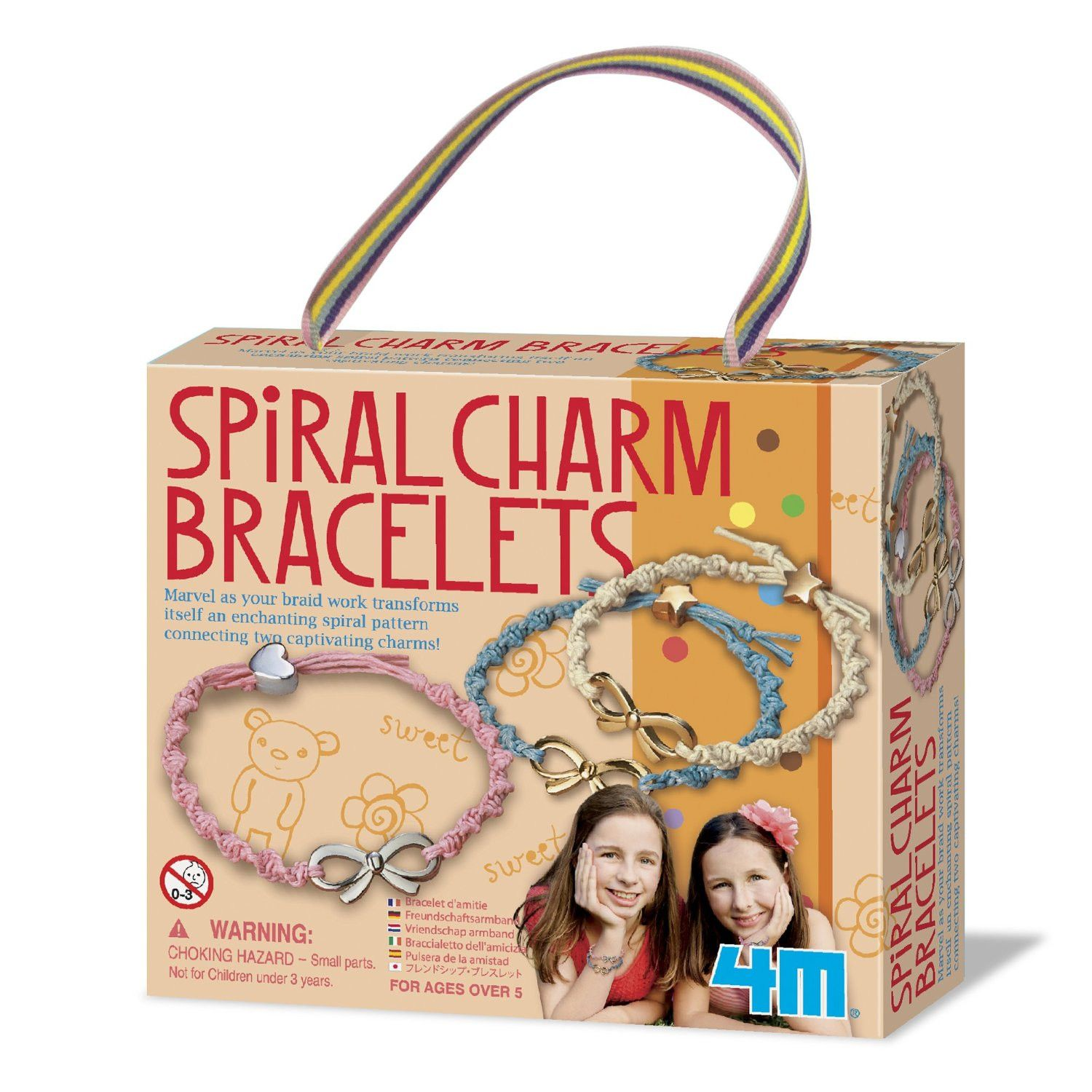 make your own spiral charm bracelets 4m craft kit survival