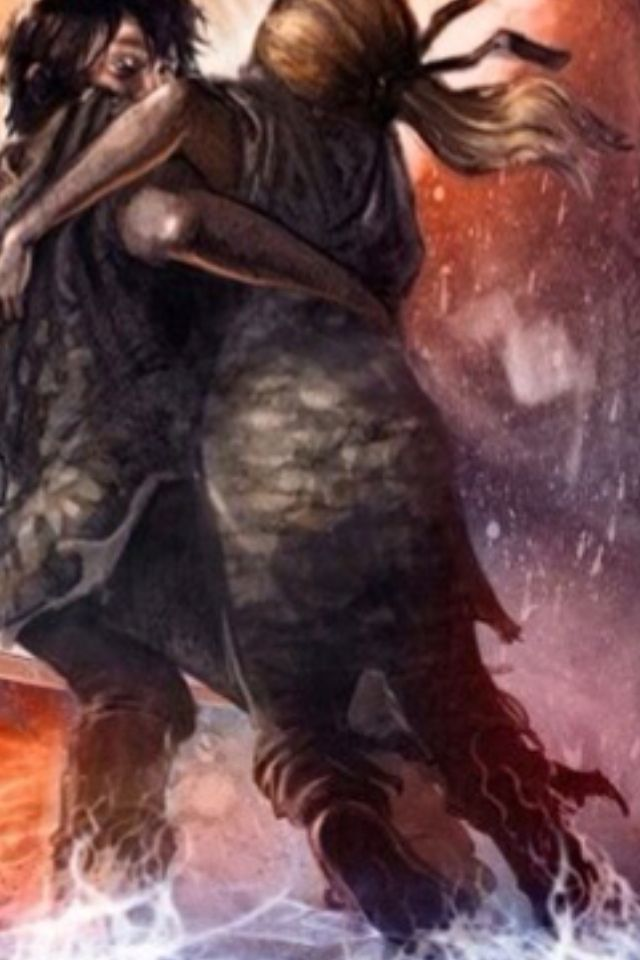 Well, I was looking at The House of Hades cover and I noticed something on Annabeth's back. If you look really closely, you can see a reflection of the Minotaur. Once you see it, that is all you see i the cover. I think I just made this 10 billion times worse than it already is. *sobbing*