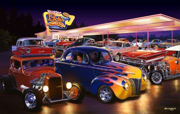 Hot Rod Art Prints Bruce Kaiser Hot Rod Art Burger Bobs Drive