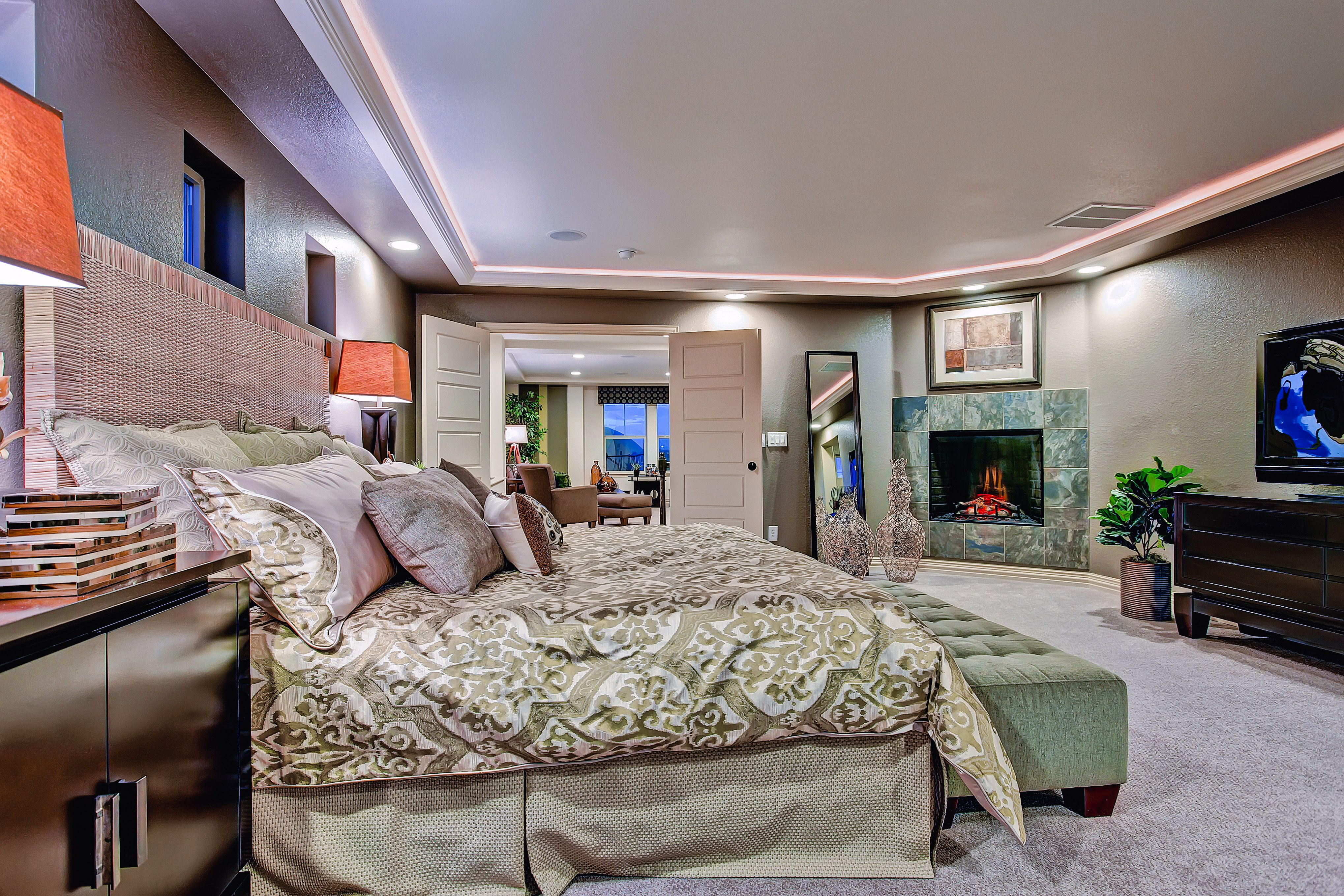 Awesome Master Bedroom Fireplace