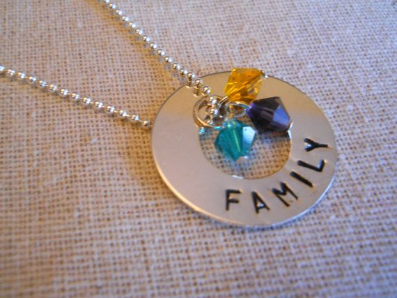 Handstamped Necklace Personalized Family by HandstampedOriginals, $32.00