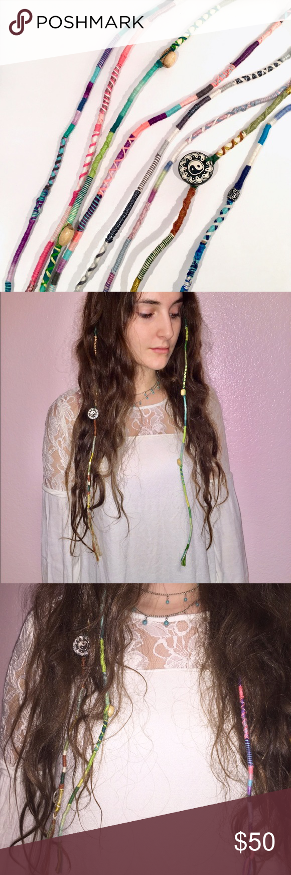 6 Hippie Boho Hair Extensions Boutique Hippie Boho Brandy