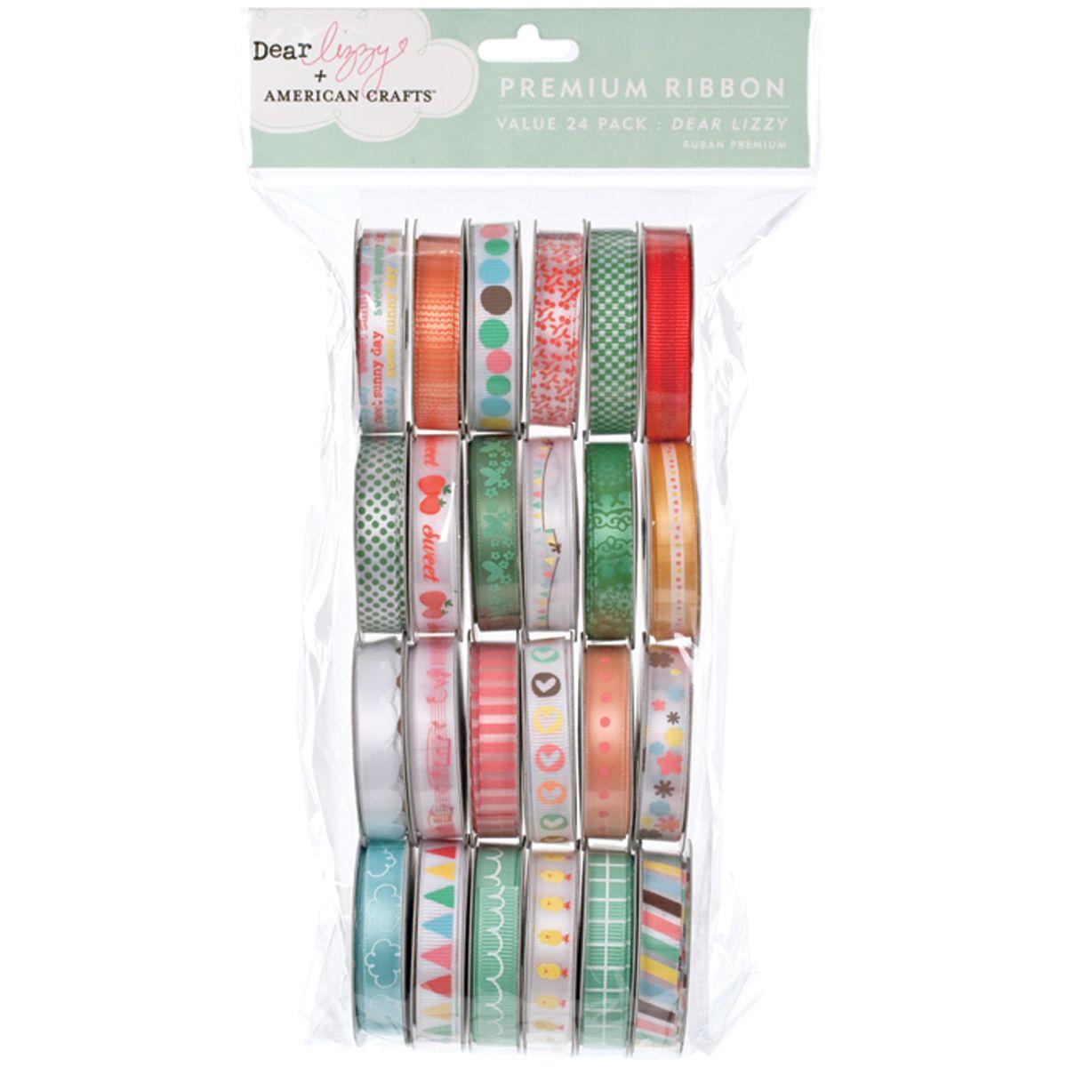 American Crafts Value Pack Premium Ribbon 24 Spools