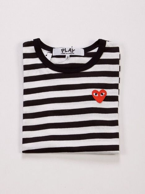 Strips And Heart I Say Yes Play By Comme Des Garcons Kleding Kleren Herenmode