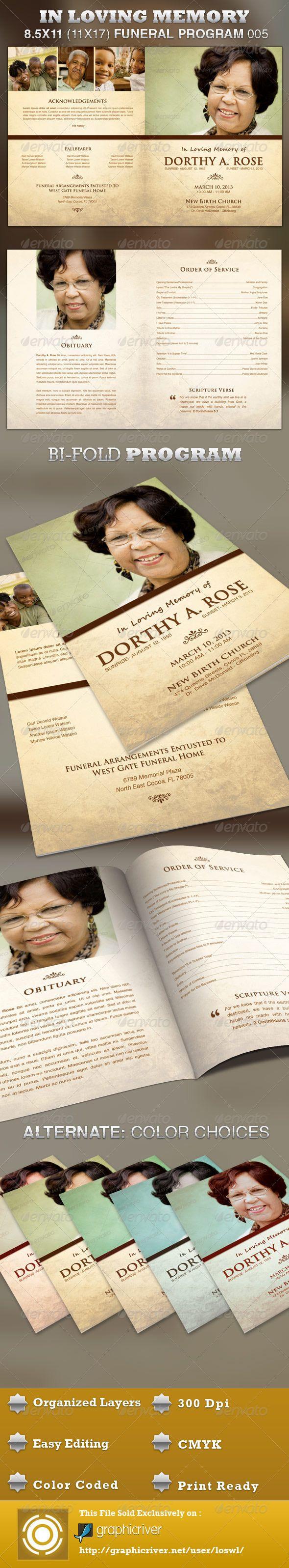 In Loving Memory Funeral Program Template 005 | Recuerdos, Funeral y ...